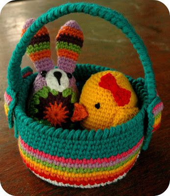 Free Crochet Patterns For Easter Gifts : Jam made: Crochet Easter Basket Pattern ... free