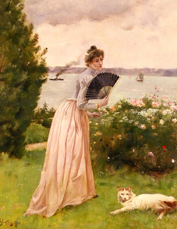 Art Renewal Center :: Alfred Stevens :: La Dame A L'Eventail: