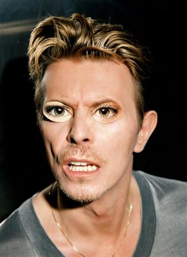 Strong David Bowie Face by David Lachapelle