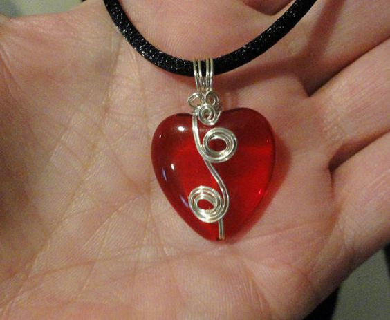 wire-wrapped heart