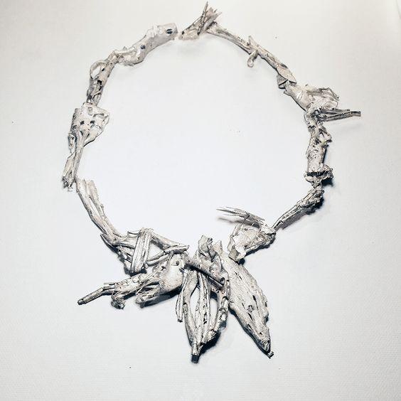 Gozde Erdogan Necklace: Undernearth, 2016 Sterling silver 21 cm: