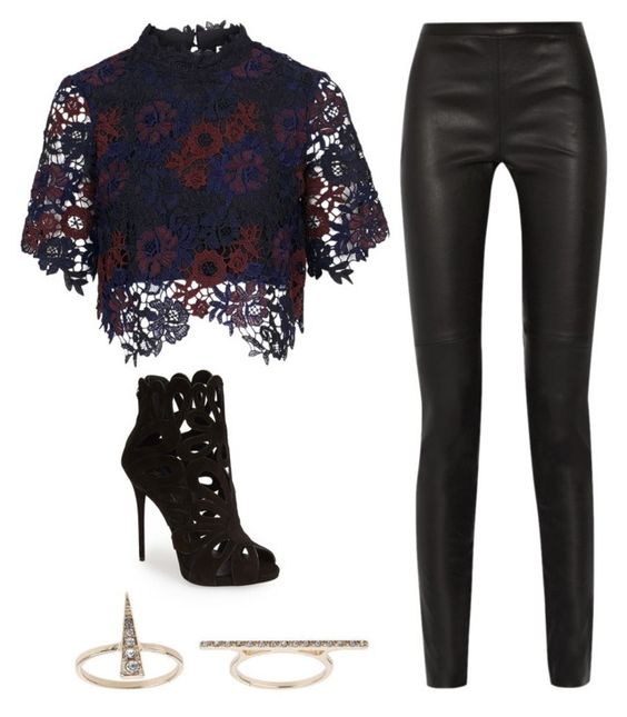 """Untitled #734"" by noellescholte ❤ liked on Polyvore featuring Topshop, Giuseppe Zanotti and Proenza Schouler"