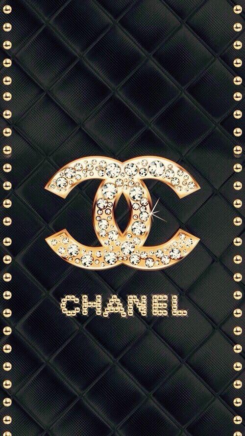 Chanel Wallpaper Iphone Wallpaper Iphone Send Luxurious Golden Rhinestones Pint Cha In 2020 Chanel Wallpapers Fashion Wallpaper Glitter Phone Wallpaper