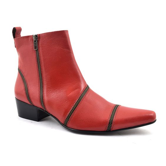 find cuban heel zip up boots for edgy rock and