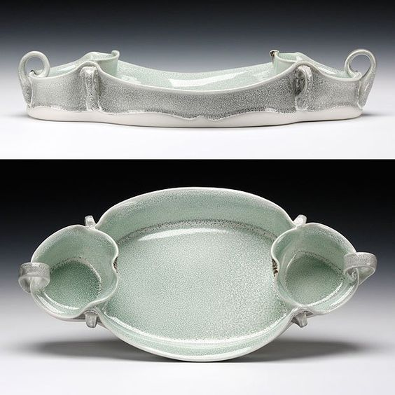 Martha Grover three part serving dish.