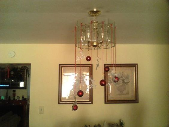I love Christmas and this is a easy way to Bling up the House this is my chandelier from last year enjoy and pass it along....