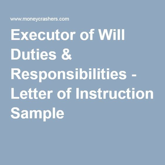 Executor Of Will Duties Responsibilities Letter Of Instruction Sample Estate Planning Checklist No Response Instruction