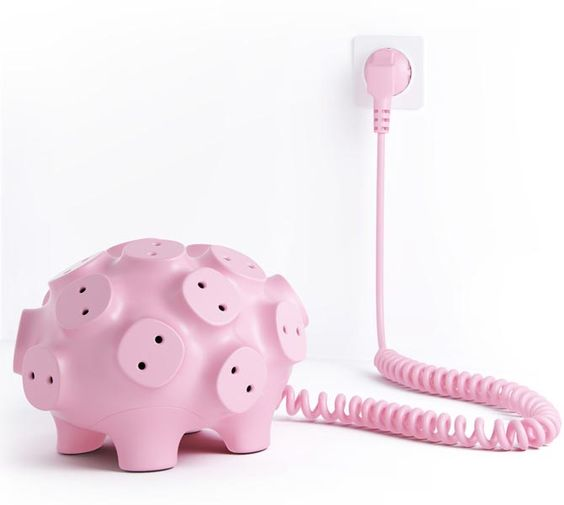 Piggy Bank Styled Power Strip