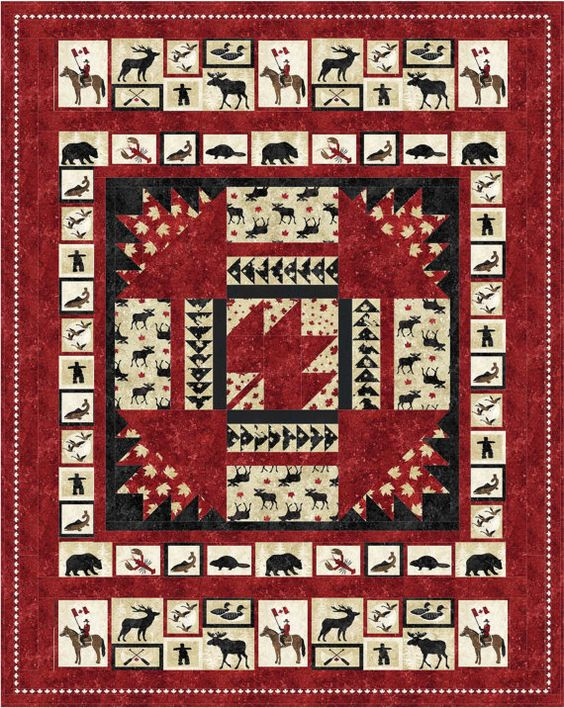 Quilt Patterns For Stonehenge Fabric : Pattern (Hard Copy) to Make Oh Canada Quilt 60