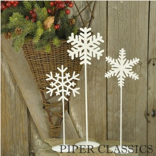 Snowflake Pedestals - Set/3