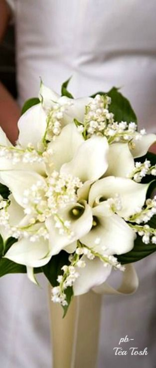 Callas & Lily of the Valley Bouquet ❇ Téa Tosh: