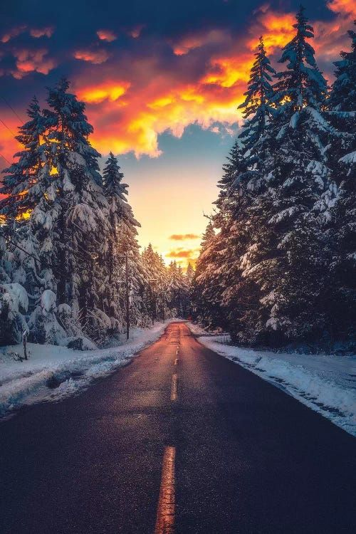 Fire And Ice Canvas Artwork By Zach Doehler Icanvas In 2021 Winter Scenery Nature Photography Landscape