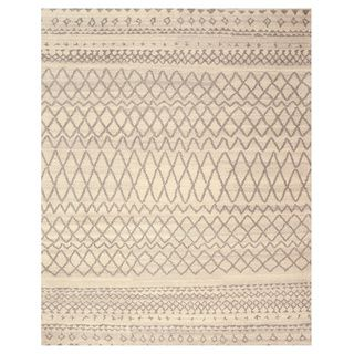 EORC SHT23IV Ivory Hand Knotted Wool Moroccan Rug (8' x 10') | Overstock™ Shopping - Great Deals on EORC 7x9 - 10x14 Rugs