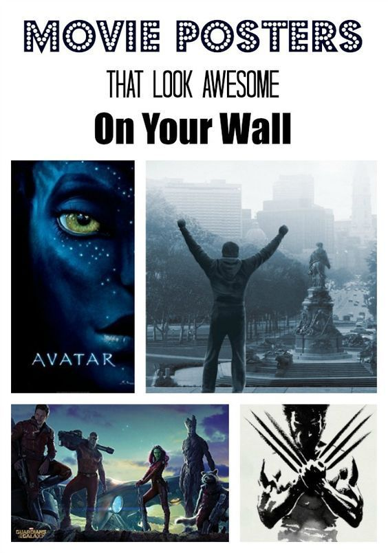 Movie posters are a great way to change the look of your room without committing to a full makeover. Check out a few of our favorites that look amazing!