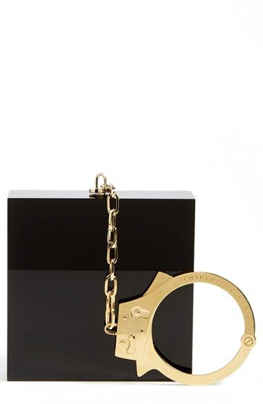 Free shipping and returns on Charlotte Olympia 'Handcuff' Clutch at Nordstrom.com. You have the right to remain fabulous: Get a lock on style—and fight crimes against fashion—with a glossy Perspex® box clutch fitted with a gilt handcuff instead of a wrist strap.