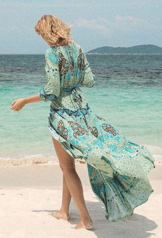Summer dress green overseas