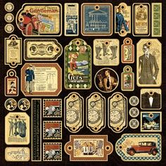 A Proper Gentleman, Cardstock Sticker Sheet
