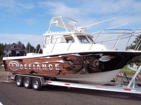 Defiance boats gunslinger wrap on 29 39 ft fishing boat for Fishing boat wraps