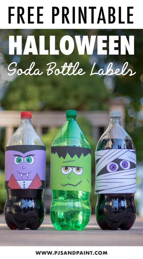 Free Printable Halloween Soda Bottle Labels 2 Liter Bottles Halloween Bottle Labels Halloween Printables Halloween Labels Printable