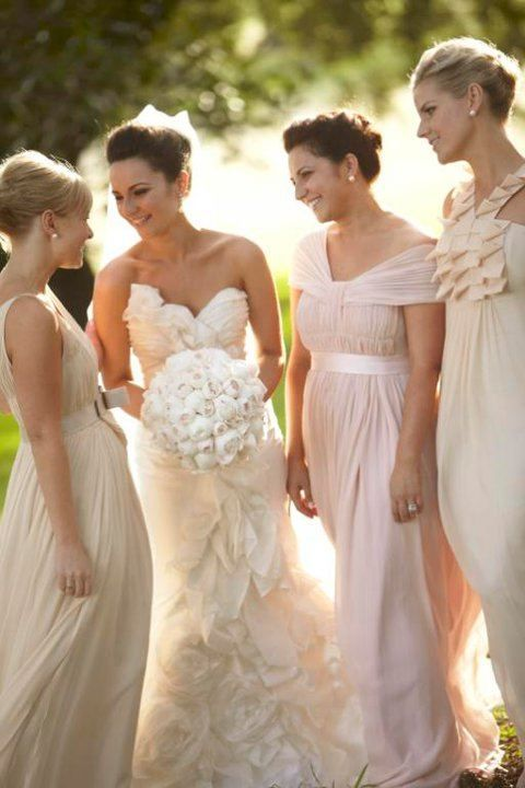 Bride and Bridesmaids beautiful