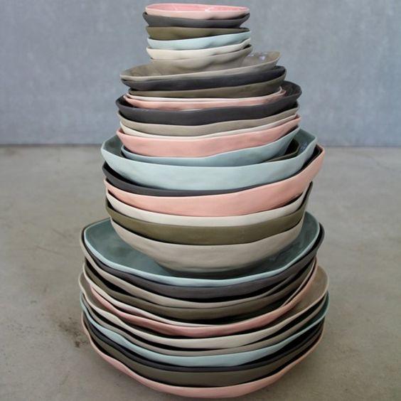 Du rose pâle dans l'art de la table, rose, vaisselle, pink, vaisselle ros