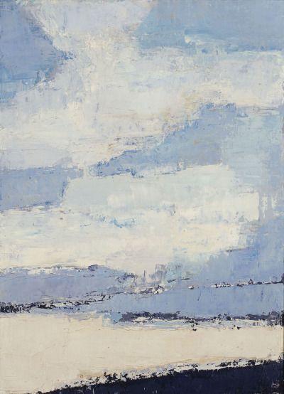 "bal-bullier: "" Sea and clouds. Nicolas de Staël (1953). """