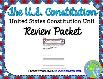 Constitution Review Packet | Judicial Review, The ...