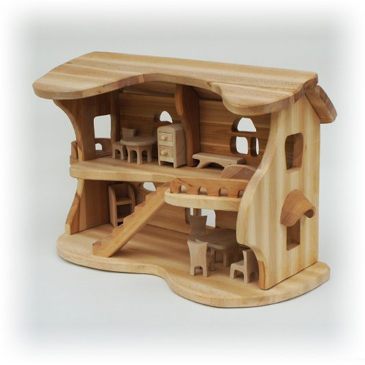 Домик из дерева игрушечный своими руками
