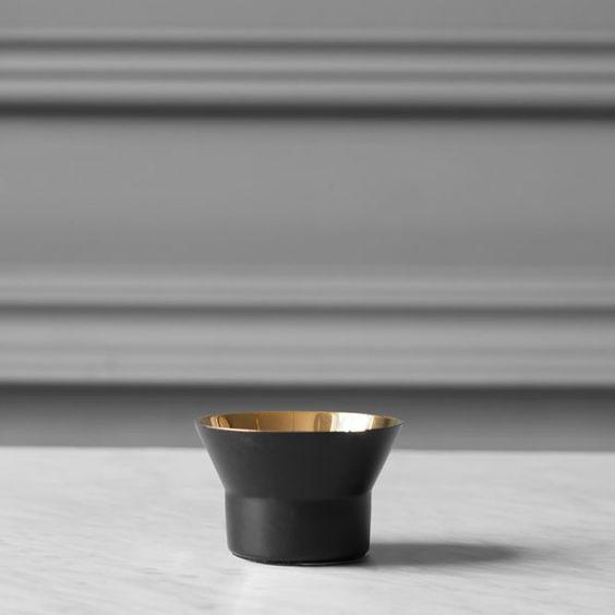 Skultuna Kin tealight black, model 1   Skultuna Kin   Candleholders   Decoration   Finnish Design Shop