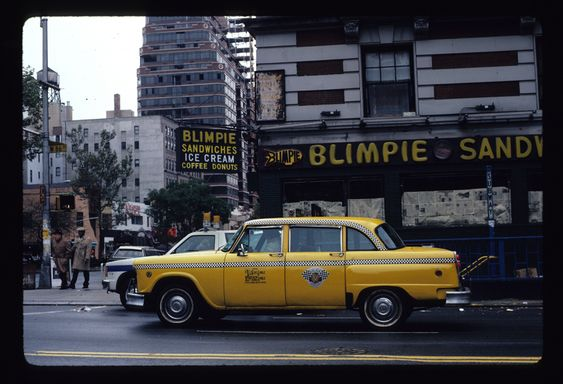 The taxi cabs were an adventure. BLIMPIES-Checker-1986