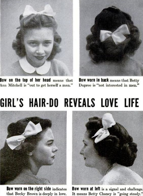 the real meaning behind hair bows... who knew?