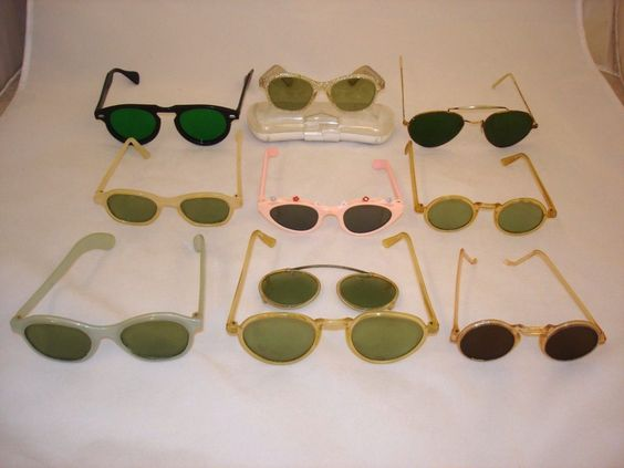 Lot 10 Pairs Vintage Antique Sunglasses Eyeglasses Pince Nez Beatles Catseye
