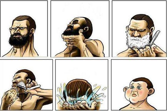 Succede sempre quando faccio la barba