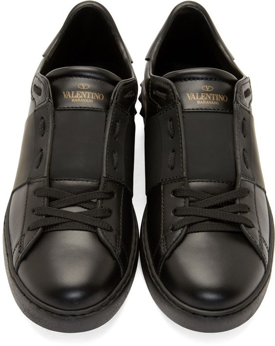 Mens products Valentino and Black sneakers on Pinterest