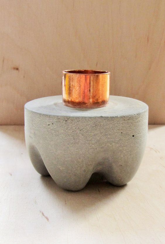 Steps On How To Make Concrete Candle Holders Concrete, Craft and - farben für küchen