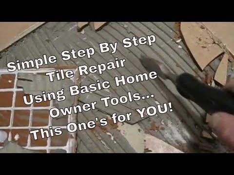 How To Fix Tile Remove Repair And Replace Cracked Loose Or Chipped Tile To Floor Or Walls Diy Youtube Tile Tile Repair Tile Floor Diy Bathroom Floors Diy