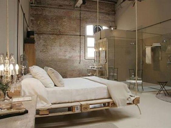 bett europaletten schwebend doityourself kreaitv modern. Black Bedroom Furniture Sets. Home Design Ideas