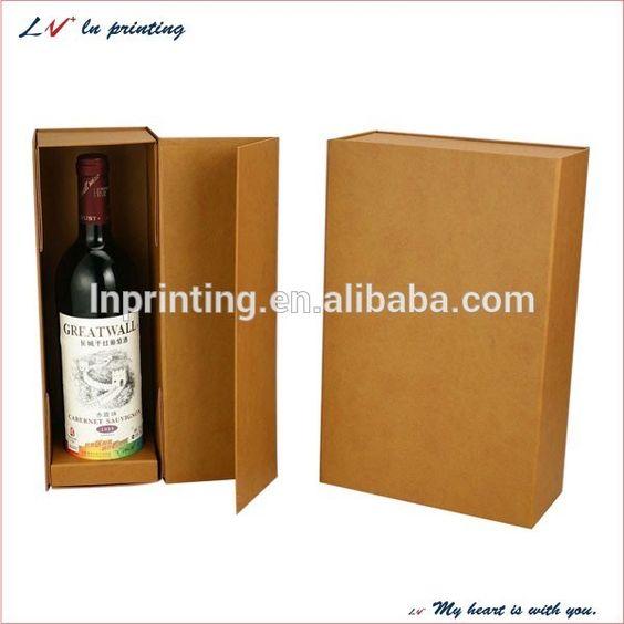 elegant cardboard wine box/ flip top paper wine box with magnetic ...