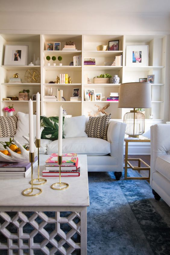 A Classic NYC Apartment Receives an All-Out-Glam Update via E-Design