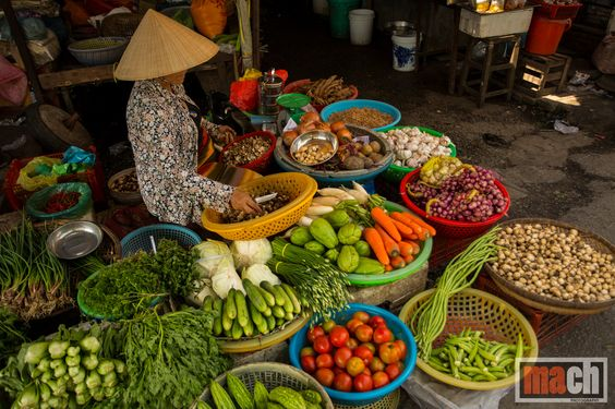 Fresh fruits and vegetables, Mekong Delta, Vietnam