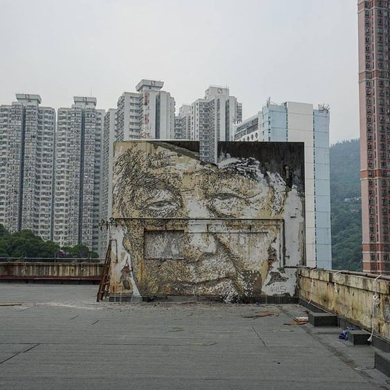 Vhils (2015) - Hongkong (China)
