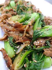 Scrumpdillyicious: Baby Bok Choy & Shiitake Mushrooms