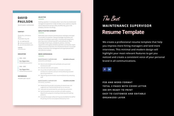 Maintenance Supervisor Resume by Elissa Bernandes on - maintenance supervisor resume