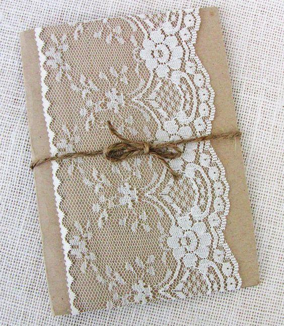 Hey, ho trovato questa fantastica inserzione di Etsy su https://www.etsy.com/it/listing/212788891/lace-wedding-invitation-rustic-wedding