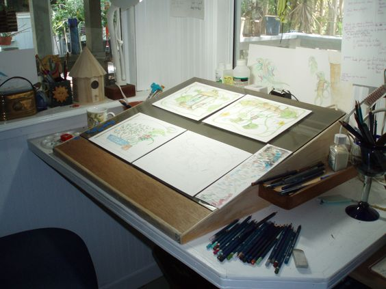 My painting space at our studio la mancha glass gardens all things