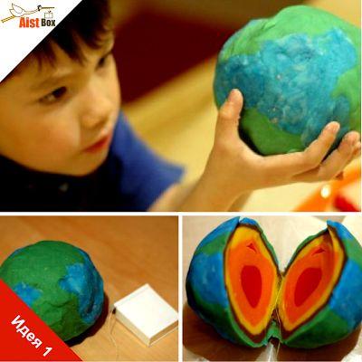 Ответим на вопрос маленьких почемучек: «Из чего же состоит Земля?» Предлагаем сделать модель планеты Земля из пластилина.