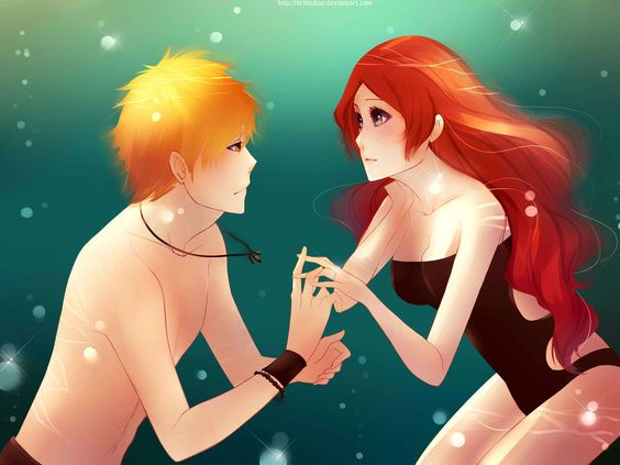 LOVE The colors in this!  And her HAIR!!! <3  IchiHime : Propose by *orichie on deviantART