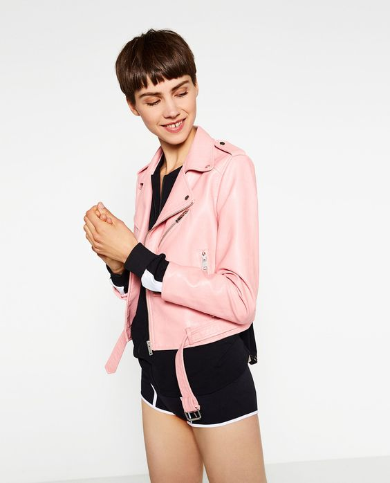 Summer Clothes 2016 | 40 pieces to add to your ZARA cart rn | Pastel Pink Faux Leather Jacket, $69.90