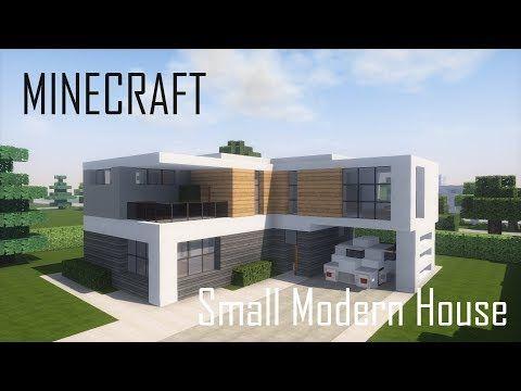 Minecraft Small Modern House 5 Full Interior Download Youtube Minecraft Small Modern House Minecraft Modern Minecraft Modern House Blueprints