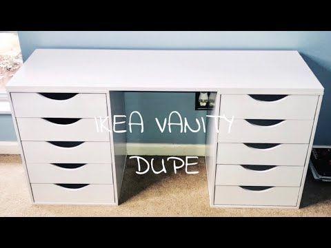 Diy Ikea Vanity Dupe Under 100 Diy Kaiya Blog In 2020 Ikea Vanity Diy Makeup Vanity Ikea Diy Vanity Table